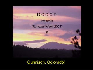 "D C C C D Presents ""Renewal Week 2005"" in"