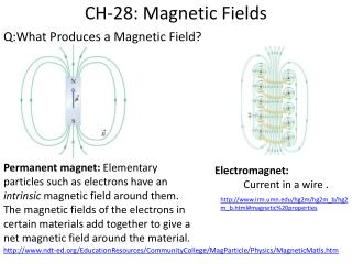 CH-28: Magnetic Fields