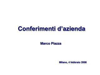 Conferimenti d'azienda