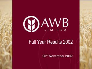 Full Year Results 2002