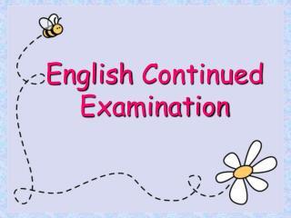 English Continued Examination