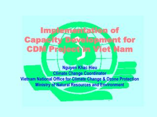 Implementation of  Capacity Development for CDM Project in Viet Nam