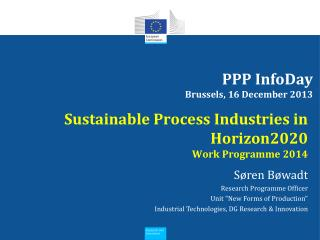 PPP InfoDay Brussels, 16 December 2013