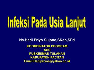 Ns.Hadi Priyo Sujono,SKep,SPd