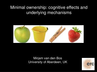Minimal ownership: cognitive effects and underlying mechanisms