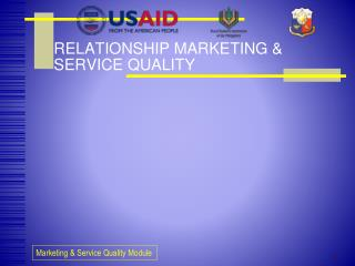 RELATIONSHIP MARKETING & SERVICE QUALITY