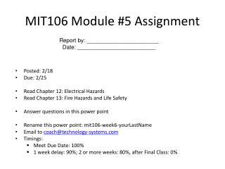 MIT106 Module #5 Assignment