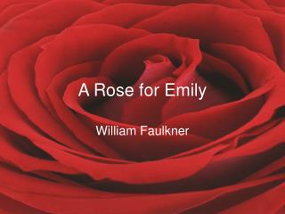 essay+a rose for emily+william faulkner