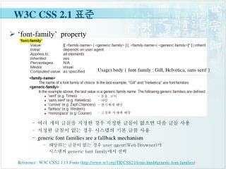 W3C CSS 2.1