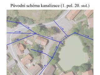 P?vodn� sch�ma kanalizace (1. pol. 20.  stol .)