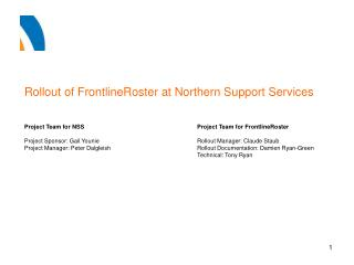 Rollout of FrontlineRoster at Northern Support Services