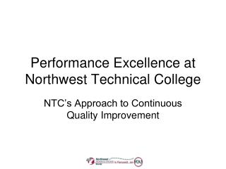 Performance Excellence at Northwest Technical College