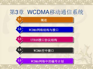 第 3 章   WCDMA 移动通信系统