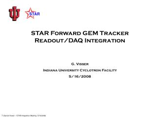 STAR Forward GEM Tracker                   Readout/DAQ Integration