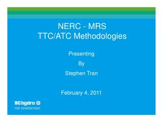 NERC - MRS TTC/ATC Methodologies