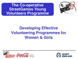 Developing Effective Volunteering Programmes for Women & Girls