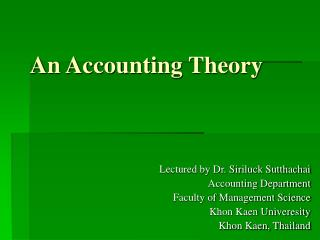 An Accounting Theory