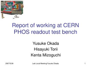 Report of working at CERN PHOS readout test bench