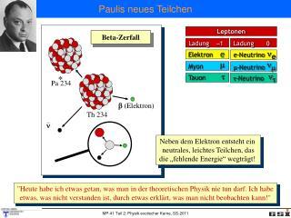 Paulis neues Teilchen