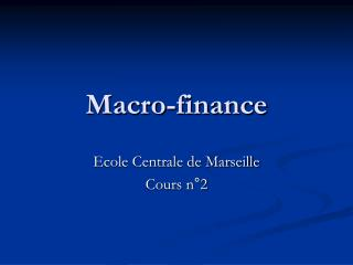 Macro-finance