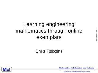 Learning engineering mathematics through online exemplars