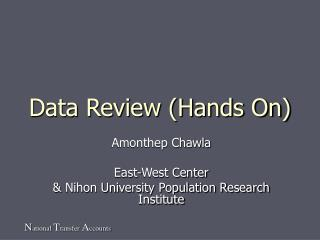 Data Review (Hands On)