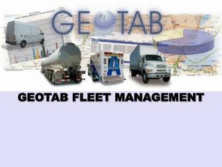 GEOTAB  FLEET MANAGEMENT