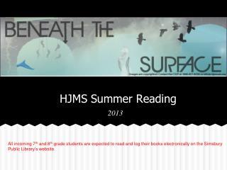 HJMS Summer Reading