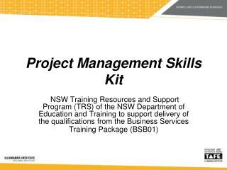 Project Management Skills Kit