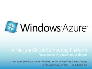 A Flexible Cloud-Computing Platform Focus on solving business problems