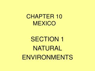 CHAPTER 10   MEXICO