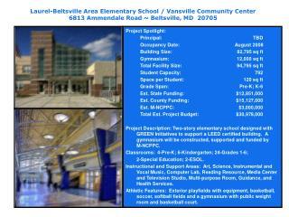 Laurel-Beltsville Area Elementary School