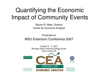 Quantifying the Economic Impact of Community Events