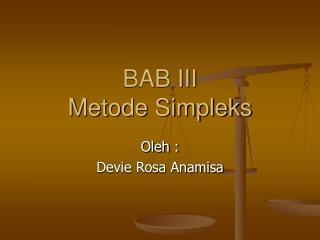 BAB III Metode Simpleks