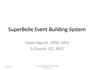 SuperBelle Event Building System