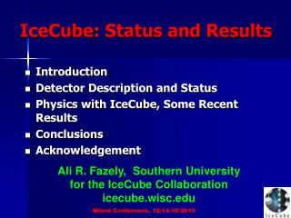 IceCube : Status and Results