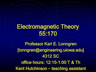 Electromagnetic Theory 55:170