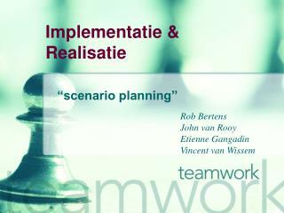 Implementatie & Realisatie