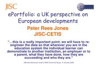ePortfolio: a UK perspective on European developments