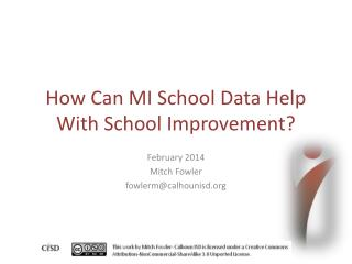 How Can MI School Data Help With School Improvement?