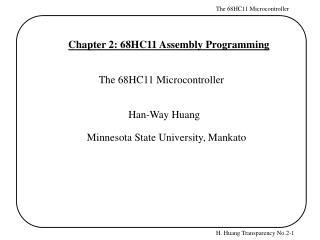 Chapter 2: 68HC11 Assembly Programming
