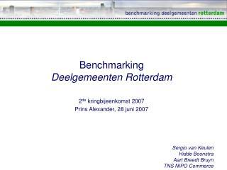 Benchmarking  Deelgemeenten Rotterdam
