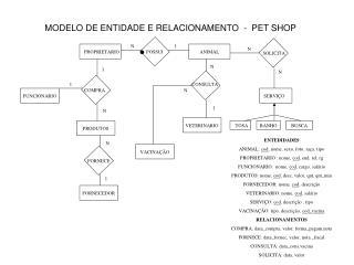MODELO DE ENTIDADE E RELACIONAMENTO  -  PET SHOP