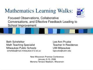 Mathematics Learning Walks: