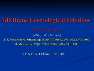 6D Brane Cosmological Solutions