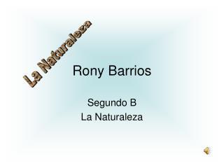 Rony Barrios