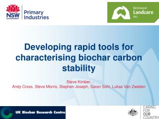 Developing rapid tools for characterising biochar carbon stability