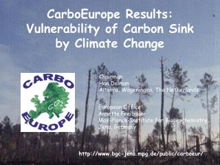 CarboEurope Results: Vulnerability of Carbon Sink by Climate Change