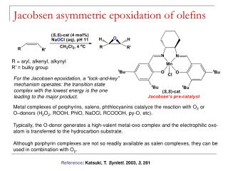 Jacobsen asymmetric epoxidation of olefins