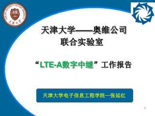 """"""" LTE-A 数字中继 """"工作报告"""